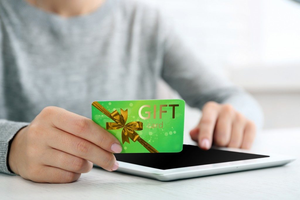 using gift card