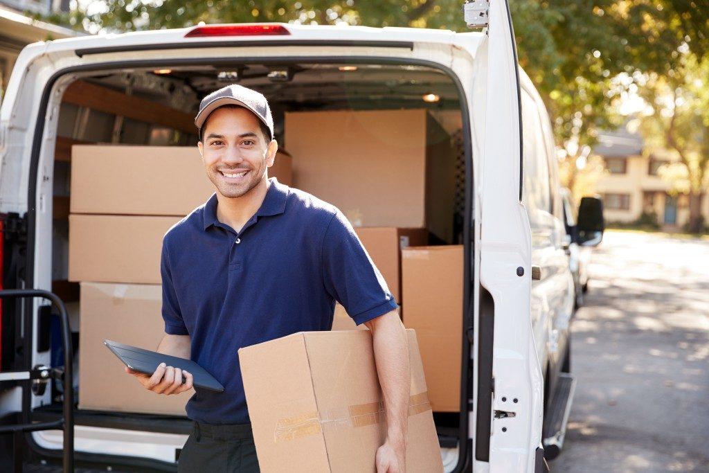 man delivering a cargo
