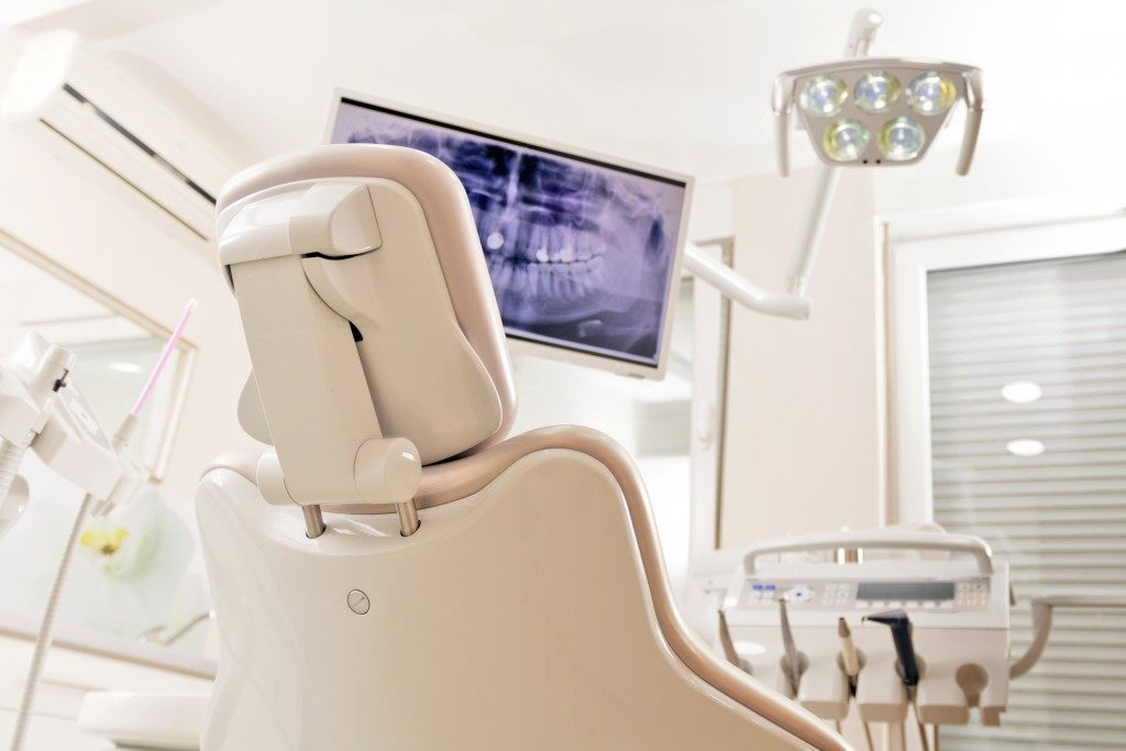 dentist chair in the office