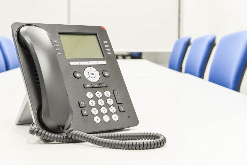 Phone in a meeting room