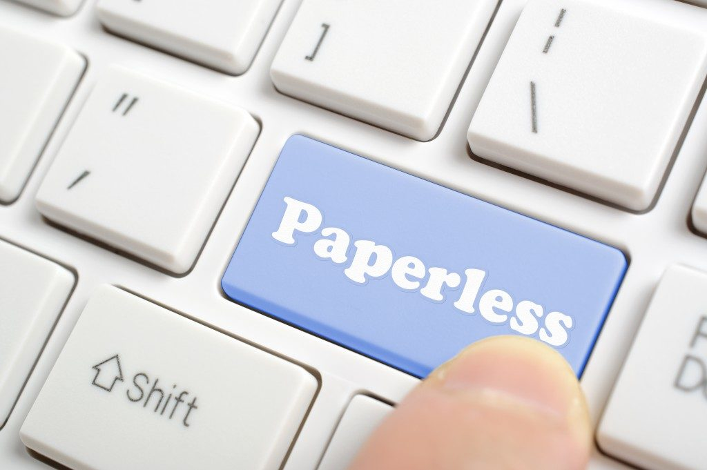 paperless key on keyboard
