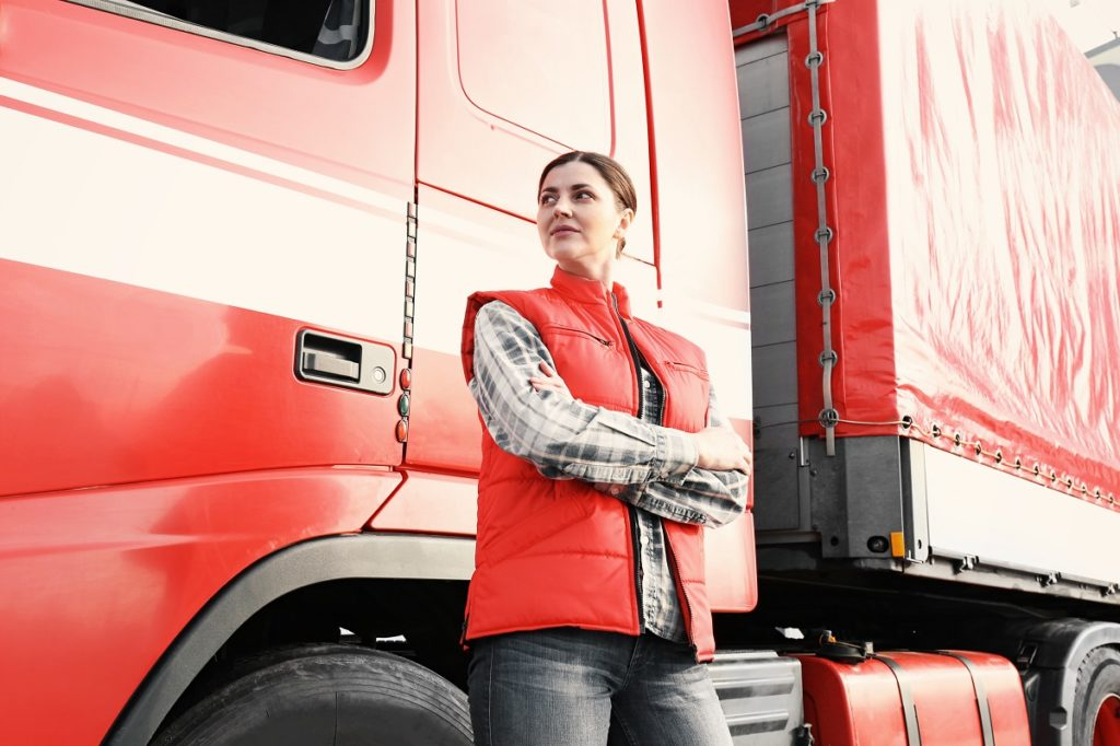 femal truck driver