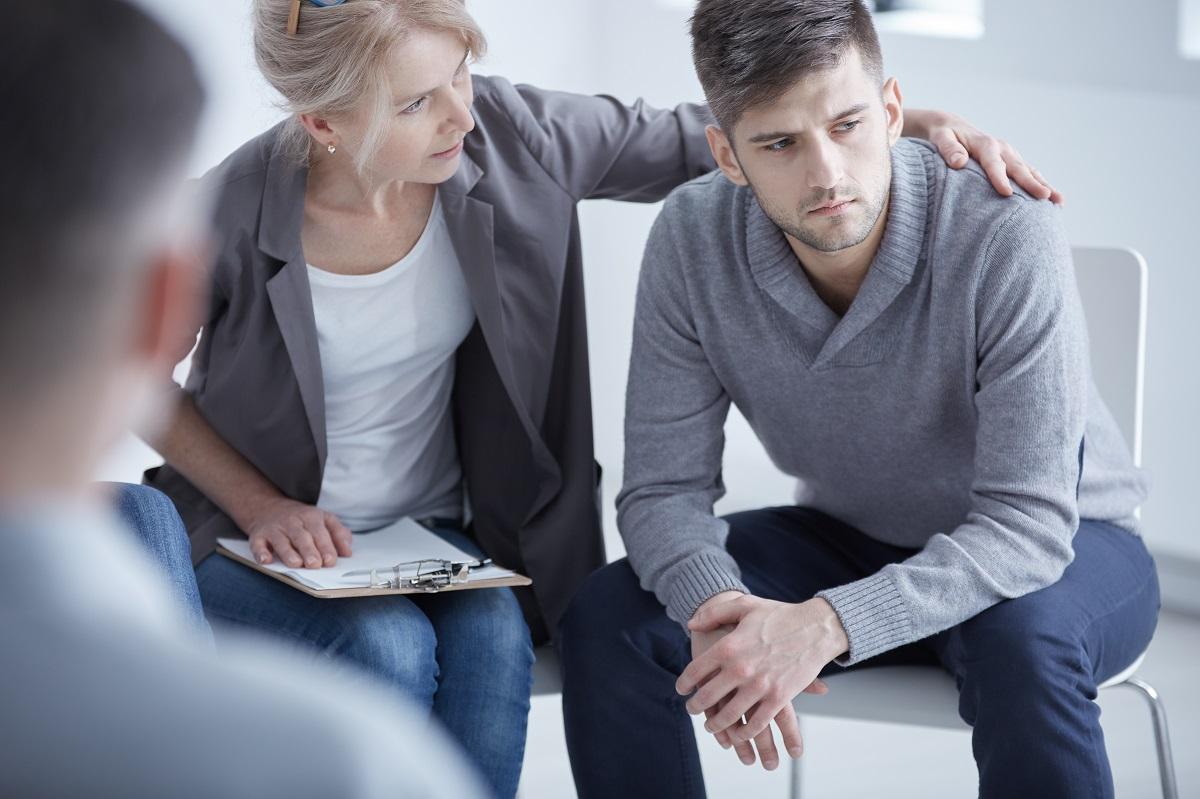 patient being treated by a psychiatrist
