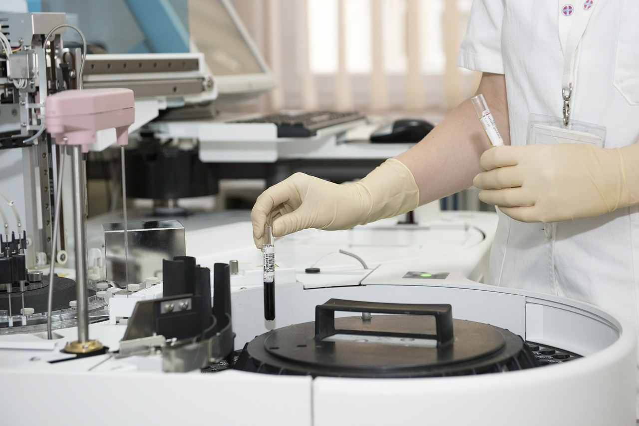 woman in her lab