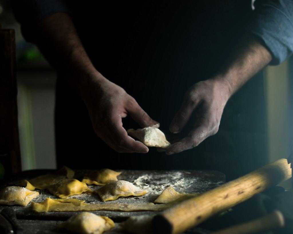 making bread concept